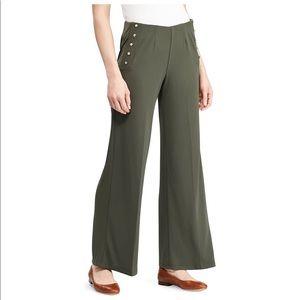 Stretch Jersey Wide-Leg Pant